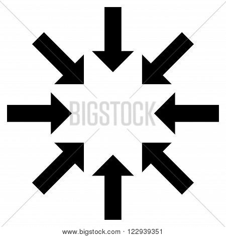 Collapse Arrows vector icon. Style is flat icon symbol, black color, white background.