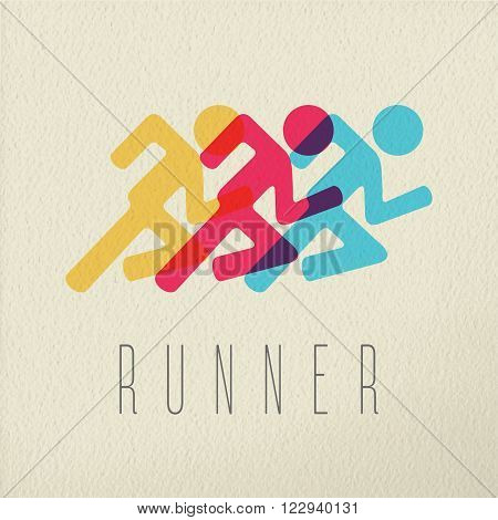 Runner Fitness People Concept Icon Color Design