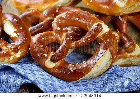 Fresh handmade original Bavarian pretzels from the domestic master baker
