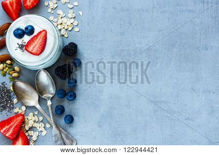 Oat Flakes, Berries With Yogurt