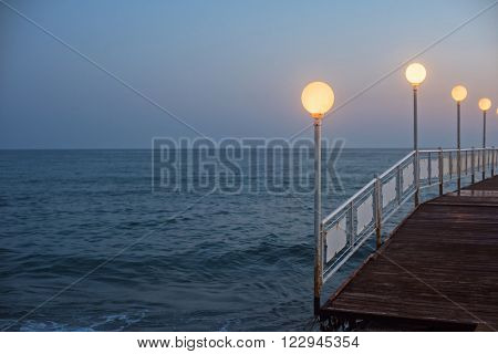 Alanya dock in the evening