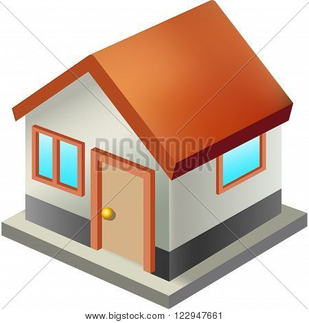 Home vector toolbar icon. Standalone house on a white background.