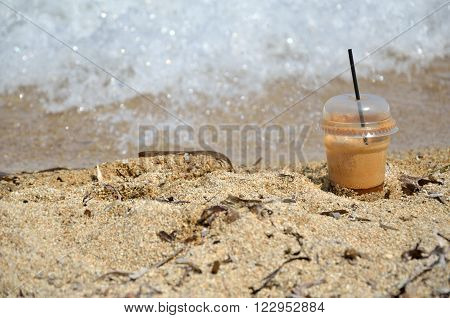 Coffee Frappe And Foamy Wave