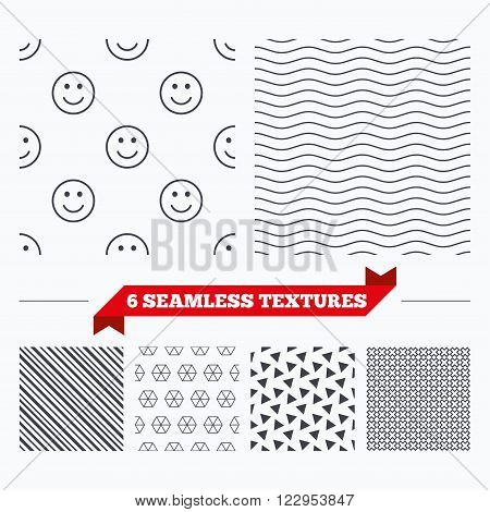 Diagonal lines, waves and geometry design. Smile lines texture. Stripped geometric seamless pattern. Modern repeating stylish texture. Material patterns.