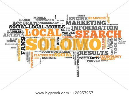 Word Cloud with Solomo Marketing related tags