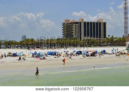 Clearwater Beach Florida USA - May 12 2015: