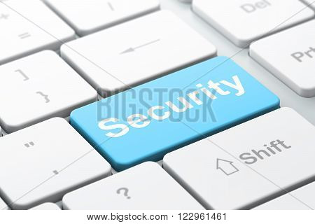 Protection concept: Security on computer keyboard background