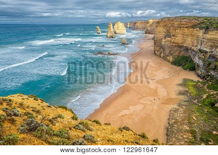 The Twelve Apostles is the most scenic part of Great Ocean Road between Melbourne and Adelaide.