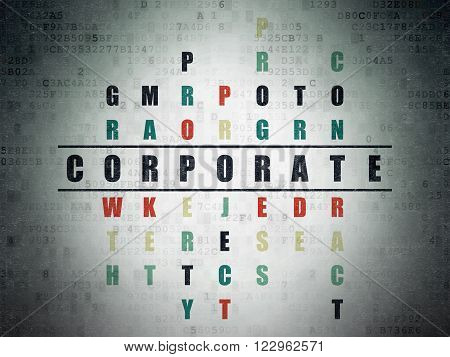 Finance concept: Corporate in Crossword Puzzle