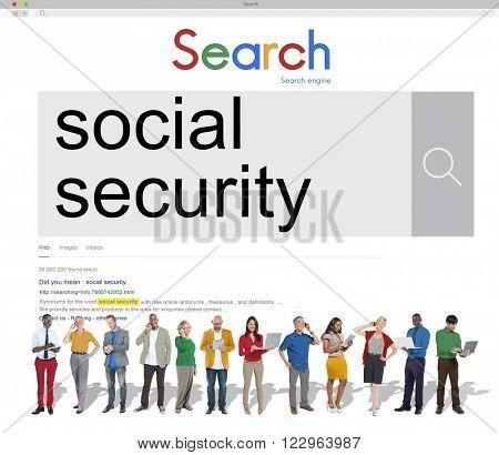 Social Security Benefit Pension Welfare Retirement Concept