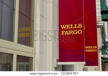 Peru IN - Circa March 2016: A Wells Fargo Retail Bank Branch. Wells Fargo is a Provider of Financial Services II