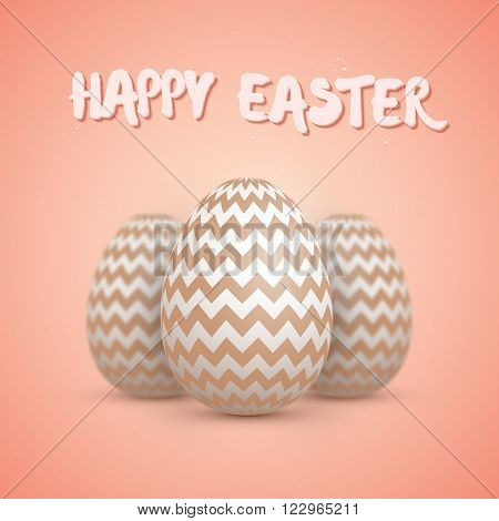 Illustration of Realistic Vector Easter Egg Set. Happy Easter Painted Vector Egg Set with DOF Depth of Field Photography Effect