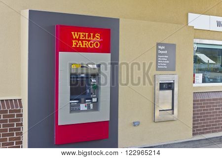 Peru IN - Circa March 2016: A Wells Fargo Retail Bank Branch. Wells Fargo is a Provider of Financial Services III