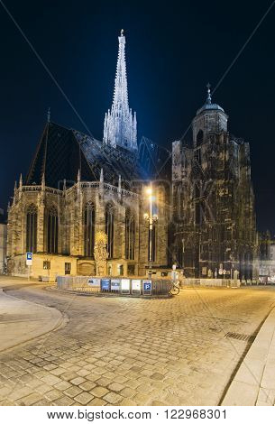 VIENNA,AUSTRIA-MARCH 17, 2012: St. Stephen's Cathedral(Stephansdom) the mother church of the Roman Catholic Archdiocese of Vienna and the seat of the Archbishop of Vienna.Austria.