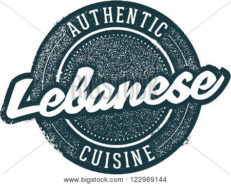 Authentic Lebanese Food Restaurant Stamp