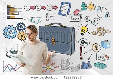 Business Portfolio Stock Currency Ideas Concept