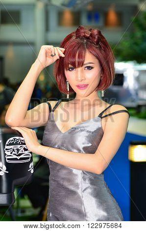 NONTHABURI - MARCH 22: Unidentified model on display at The 37th Bangkok International Thailand Motor Show 2016 on March 22 2016 Nonthaburi Thailand.
