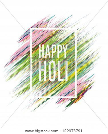 creative vector illustration of the Indian festival of colors Holi happy, drawing in watercolor style elements to design a poster and flyer gift cards art