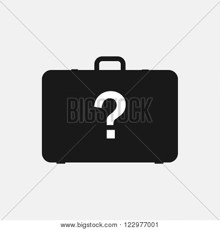 Suspicious suitcase icon, Suitcase icon, Flat icon. Vector illustration EPS10