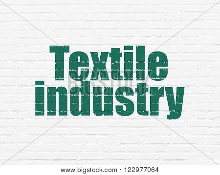 Industry concept: Textile Industry on wall background