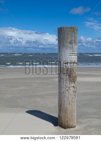 the beach of the german Island norderney
