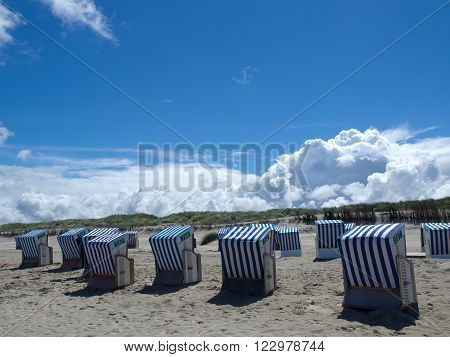 the beach of the german Island norderney ** Note: Visible grain at 100%, best at smaller sizes