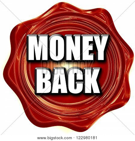 money back sign with some soft smooth lines