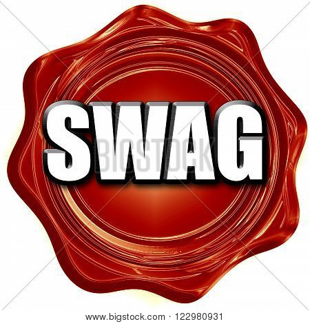 swag internet slang with some soft smooth lines