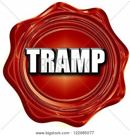 tramp sign background with some soft smooth lines