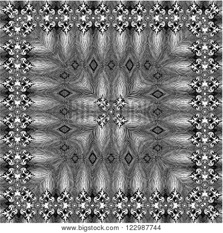 Ornamental Black And White Pattern Background Vector