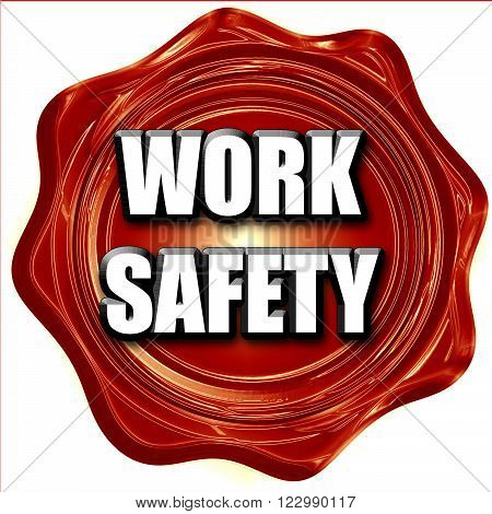 Work safety sign with some soft smooth lines