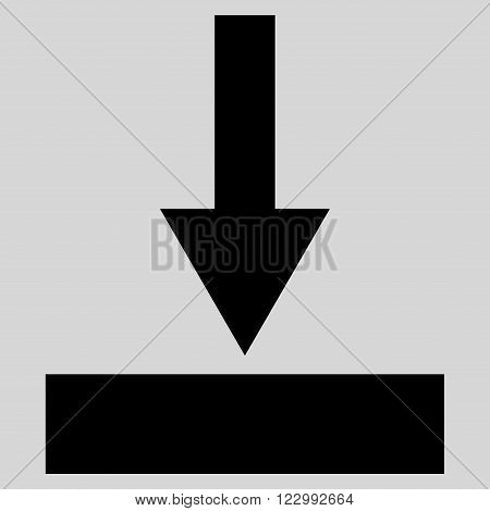 Move Bottom vector icon. Style is flat icon symbol, black color, light gray background.