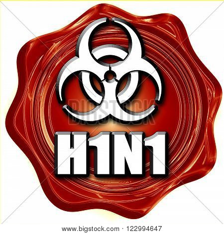 h1n1 virus concept background with some soft smooth lines