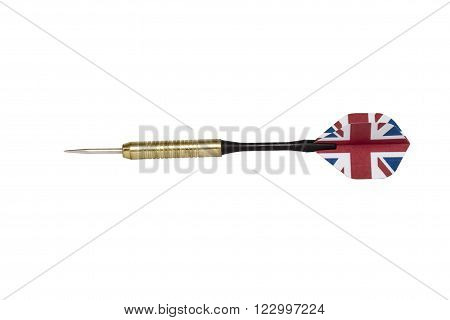 powerful country darts isolated on white with clipping path