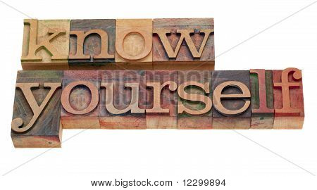 Know Yourself - Lettepress Type