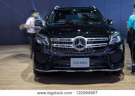 NONTABURI THAILAND - 23 MAR : Mercedes-Benz GLS 350d showed in Thailand the 37th Bangkok International Motor Show on 34 March 2016