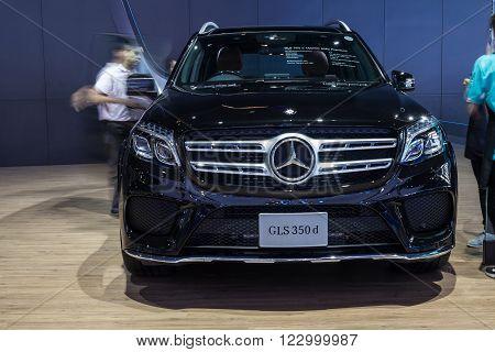 NONTABURI THAILAND - 23 MAR : Mercedes-Benz GLS 350d showed in Thailand the 37th Bangkok International Motor Show on 34 March 2016
