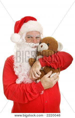 Santa Hugs Teddy Bear