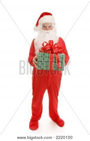 Sleepy Santa With Gift