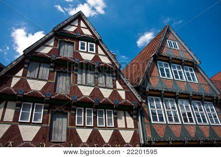 Casa de Frame de madeira tradicional em Celle, Alemanha