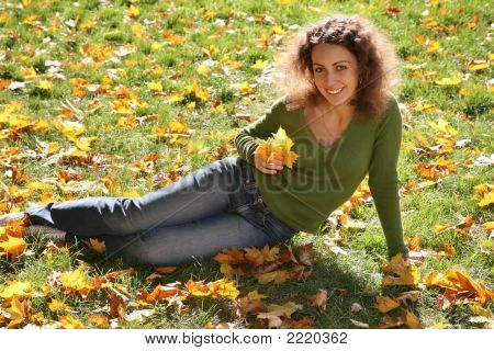 Woman With The Yellow Leaf