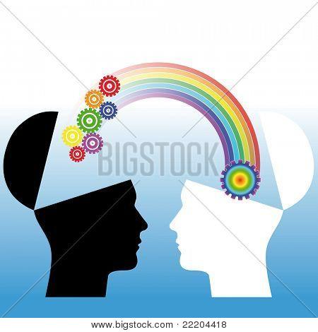 Mutual understanding conceptual illustration
