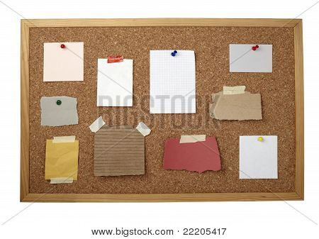 Brown Old Paper Note Background Cork Board
