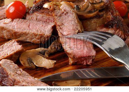 Medium Rare Rib Steak