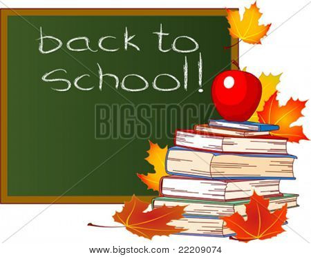 Back to School Design, isolated on white background