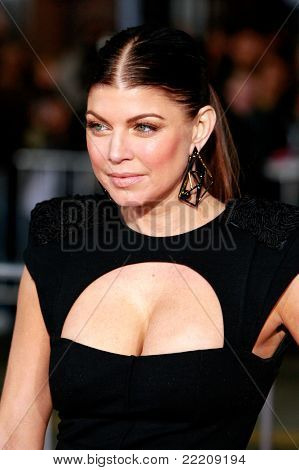 LOS ANGELES, CA - DEC 9: Fergie aka Stacy Ferguson at the premiere of 'Nine' held at the Mann Village Theater in Los Angeles, California on December 9, 2009