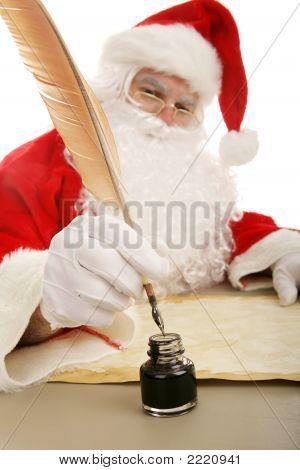 Santa Dips His Quill