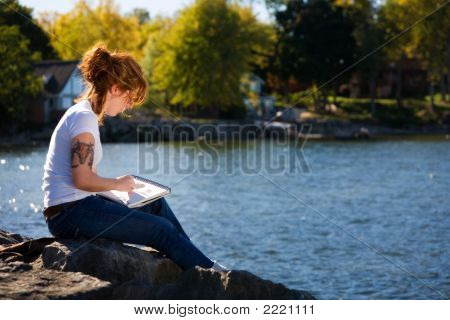 Sketching By The Pond