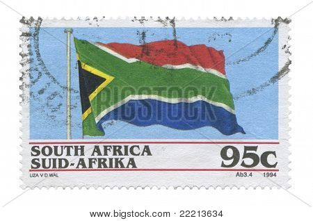 South Africa Flag, Stamp
