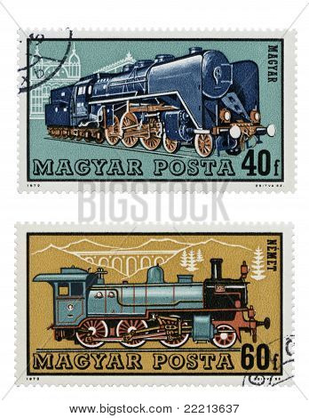 Train Collection - Post Stamps